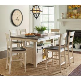 Madison County High/low Table With 4 Chairs - Vintage White