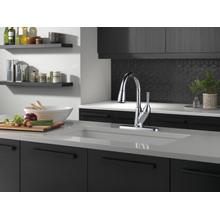 Chrome Single Handle Pull-Down Kitchen Faucet with ShieldSpray ® Technology