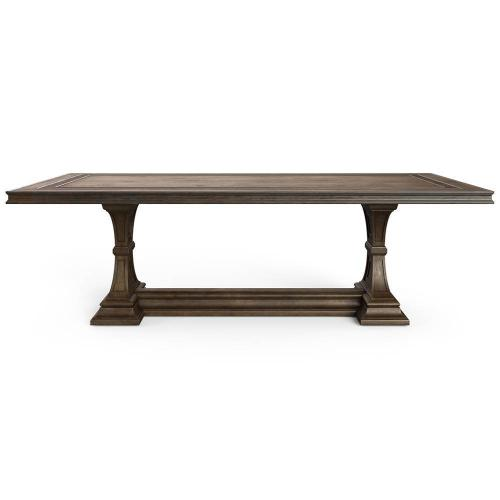 """Thoroughbred 96"""" Admiral's Rectangular Dining Table - Toast"""