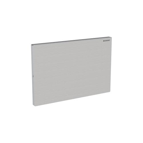 Cover Plates For use with remote flush buttons with Sigma and Omega in-wall systems Sigma 2x6 and 2x4 in-wall systems Compatibility Metal - Brushed stainless steel Material - Finish