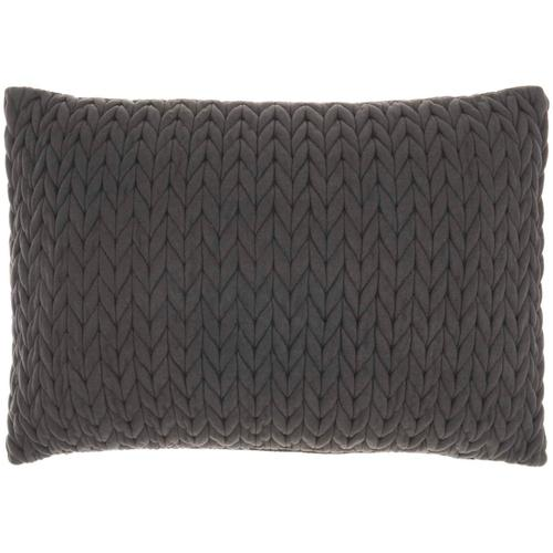 """Life Styles Et299 Charcoal 14"""" X 20"""" Throw Pillow"""