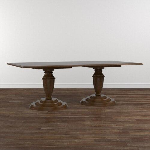"Custom Dining 86"" Turned Ped. Wood Table"