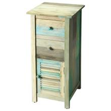 See Details - The Fiona accent chest enhances any bedroom or living space. The many colors of the Artifacts distressed finish bring a lightness and airy feeling to the room. The painted rustic features include two top drawers and a lower cabinet, perfect for tucking away whatever you need.