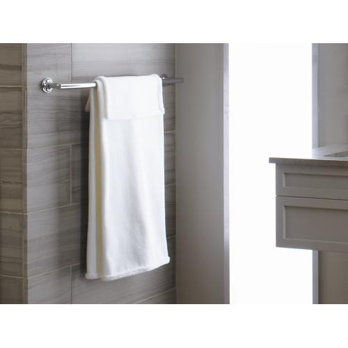"""Vibrant Brushed Moderne Brass 24"""" Towel Bar"""