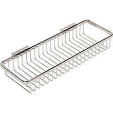 Polished Nickel Long Deep Toiletry Basket