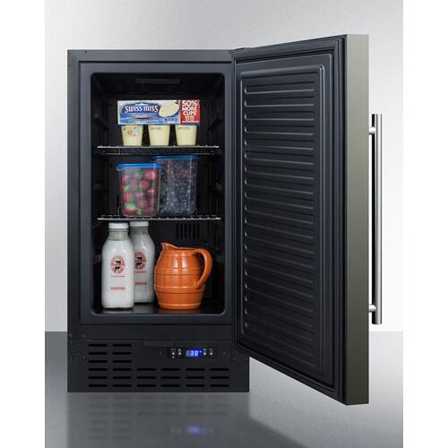 """Summit - 18"""" Wide Built-in All-refrigerator"""