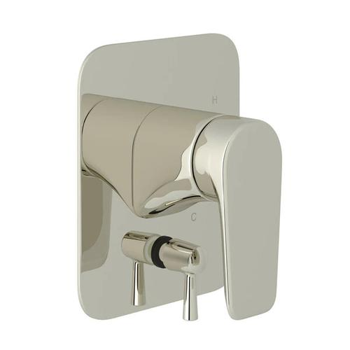 Hoxton Pressure Balance Trim with Diverter - Polished Nickel with Metal Lever Handle