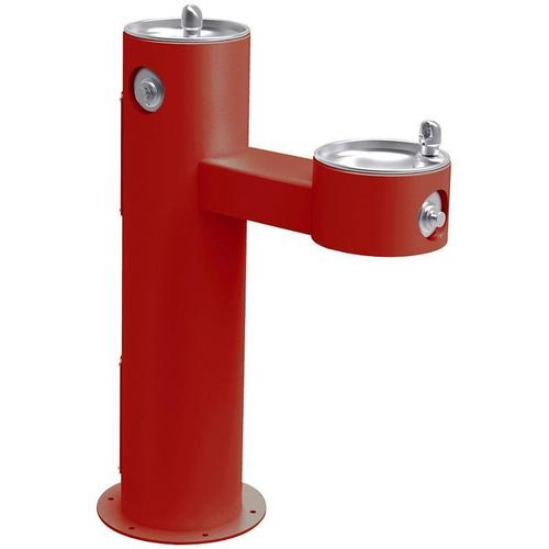 Elkay - Elkay Outdoor Fountain Bi-Level Pedestal Non-Filtered, Non-Refrigerated Freeze Resistant Red