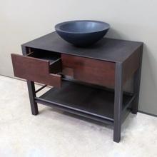 "36"" Elemental Prototype Lockertop Vanity Wood U0026 Steel Stand / Seconds"