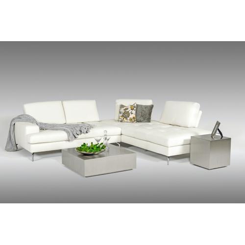 VIG Furniture - Estro Salotti Voyager - Modern White Leather Right Facing Sectional Sofa