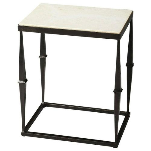 Butler Specialty Company - Dark and exquisite is a perfect description for this accent table. The elegantly black finished and marble top end table is fully functional and an abode of space to place your storage items. The table is best to keep in your living room, hall, family room or even your bedroom. This table has a contemporary style and is very practical. Keep a vase with fresh flowers and reading materials to add a charming touch to your home decor.