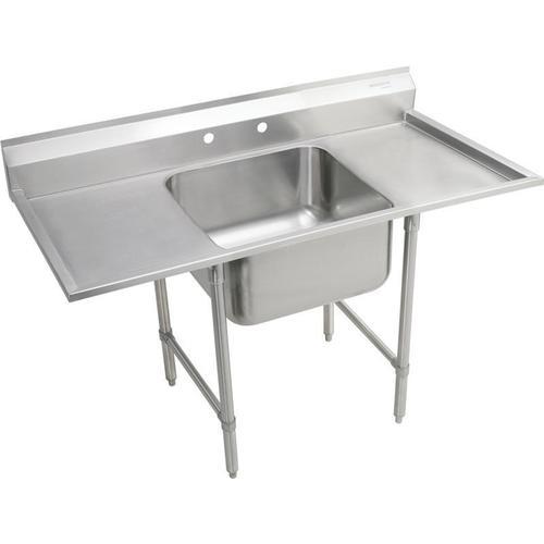 "Product Image - Elkay Rigidbilt Stainless Steel 33"" x 29-3/4"" x 12-3/4"" Floor Mount, Single Compartment Scullery Sink w/ Drainboard"
