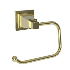 Uncoated Polished Brass - Living Open Toilet Tissue Holder
