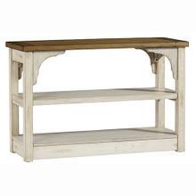 Sofa Table - Oak/Antique White Finish