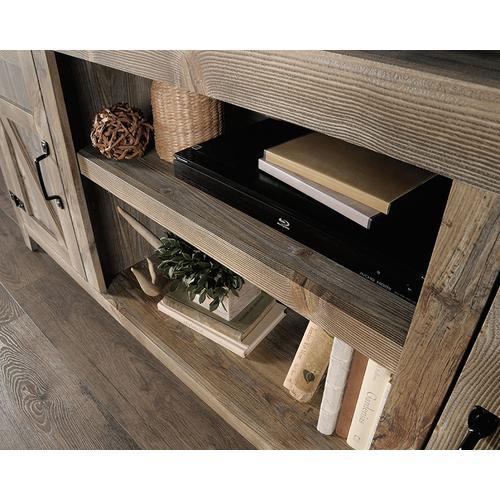Sauder - Rustic Cedar Farmhouse TV Stand with Storage