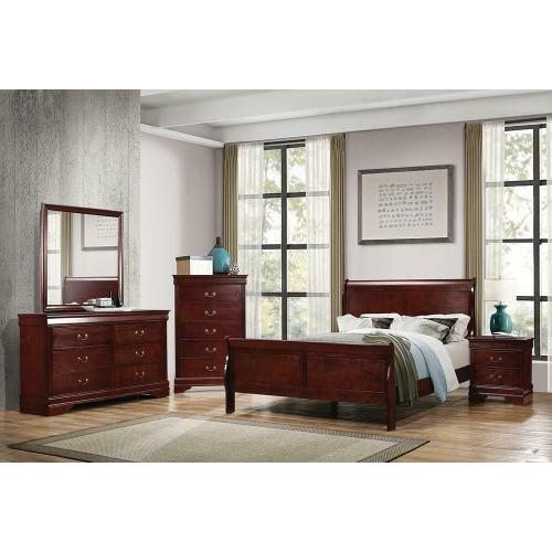 Louis Philippe Traditional Cherry Full Bed