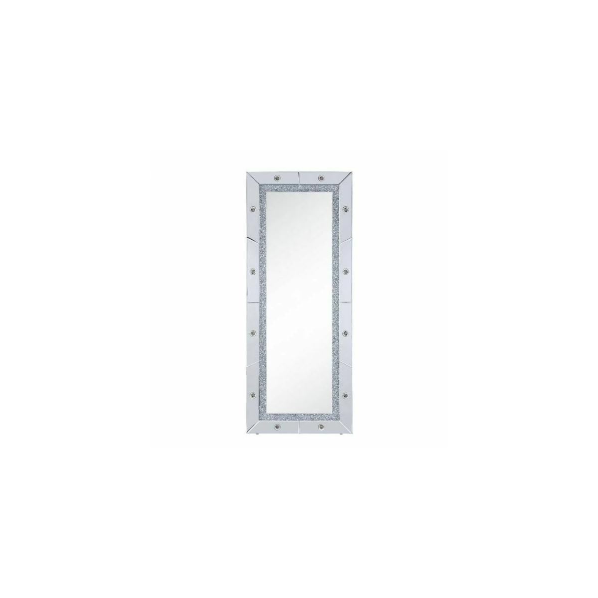 ACME Noralie Wall Decor - 97754 - Glam - LED Light, Mirror, Glass, MDF, Faux Diamonds (Acrylic) - Mirrored and Faux Diamonds