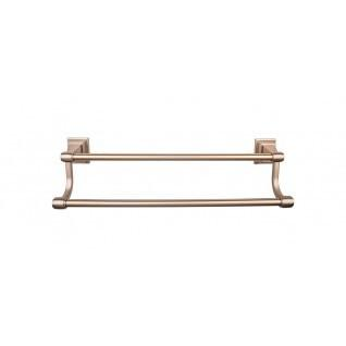 Top Knobs - Stratton Bath Towel Bar 24 Inch Double - Brushed Bronze