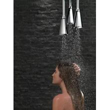 Black Stainless H2Okinetic ® Pendant Raincan Shower Head