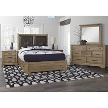 Queen Leather Bed with 2 Side Storage