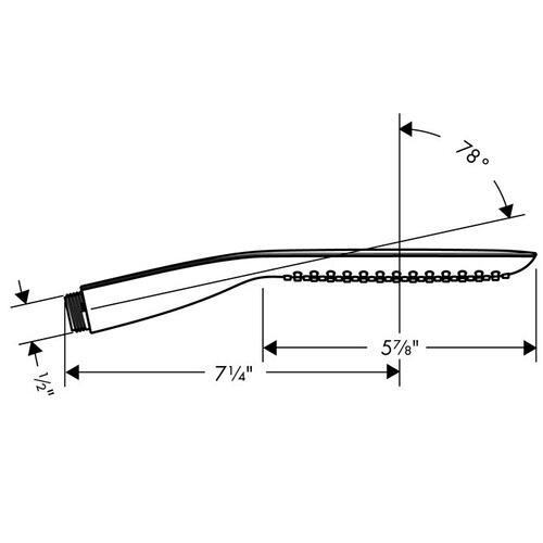 Chrome Handshower 120 1-Jet, 2.5 GPM