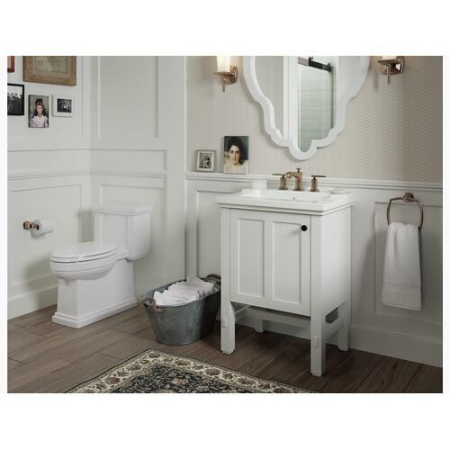 Thunder Grey One-piece Compact Elongated 1.28 Gpf Chair Height Toilet With Quiet-close Seat
