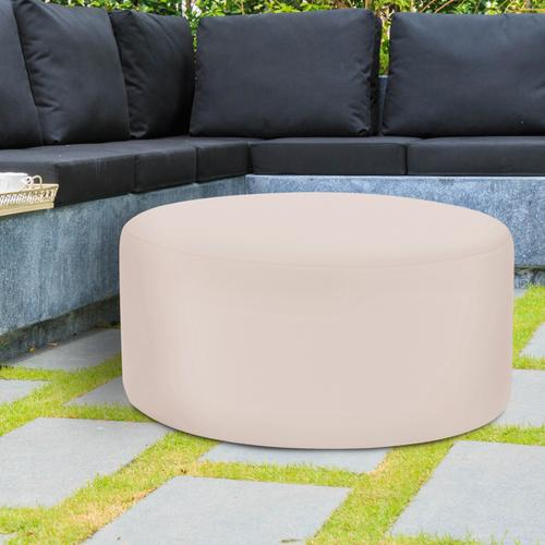 Universal Round Ottoman Cover Seascape Sand (Cover Only)