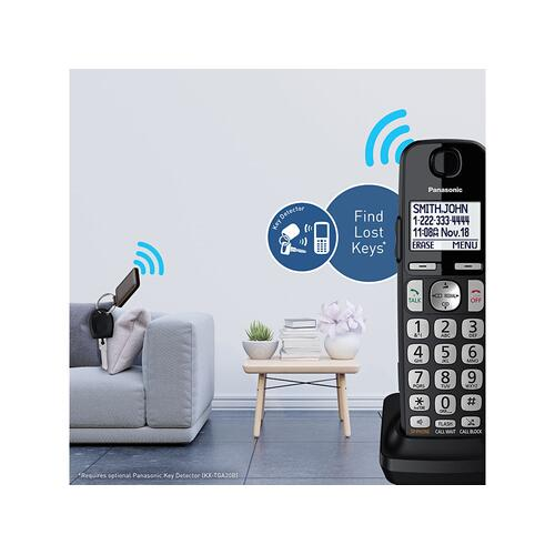 Expandable Cordless Phone System with Answering Machine - 2 Handsets - KX-TGE432B