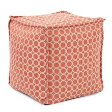 See Details - Square Pouf Pyth Coral