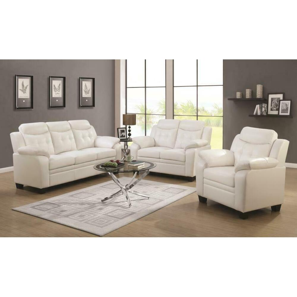 See Details - Finley Casual White Two-piece Living Room Set