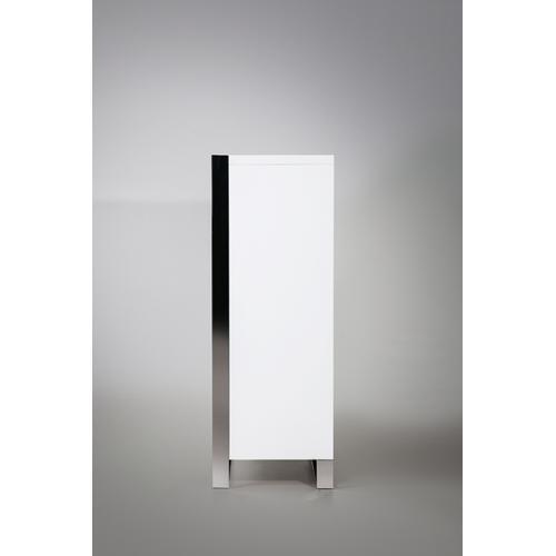VIG Furniture - Nova Domus Francois Modern White & Stainless Steel Chest