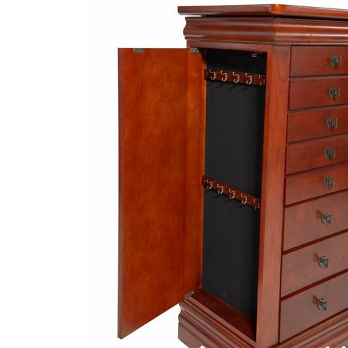 Powell Company - Louis Philippe Marquis Cherry Jewelry Armoire