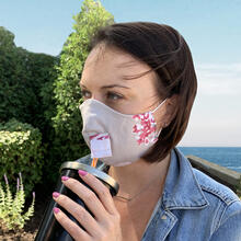 Product Image - Happy Hour Reusable Face Mask in Pink Floral