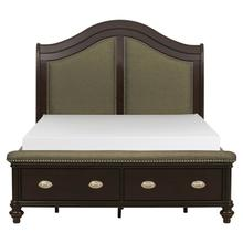 View Product - Queen Sleigh Platform Bed