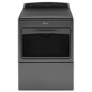 Whirlpool7.4 cu.ft Top Load HE Electric Dryer with AccuDry , Intuitive Touch Controls Chrome Shadow