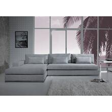 View Product - Divani Casa Ashfield - Modern Grey Fabric Left Facing Sectional Sofa