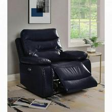 ACME Aashi Recliner (Power Motion) - 55373 - Contemporary - Leather-Gel, Frame: Wood (Hemlock/Fir, Ply), Foam (D28), Metal Reclining Mechanism - Navy Leather-Gel Match