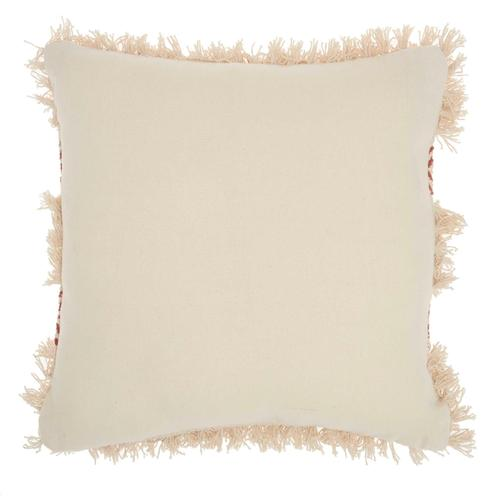 """Life Styles Dl033 Clay 18"""" X 18"""" Throw Pillow"""