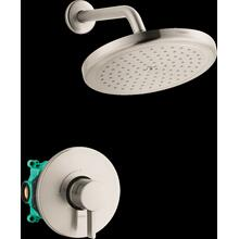 Brushed Nickel Pressure Balance Shower Set with Rough, 2.0 GPM