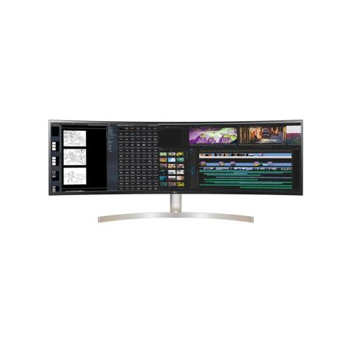 LG 49WL95C-W 49 Inch 32:9 UltraWide Dual QHD IPS Curved LED Monitor with HDR 10