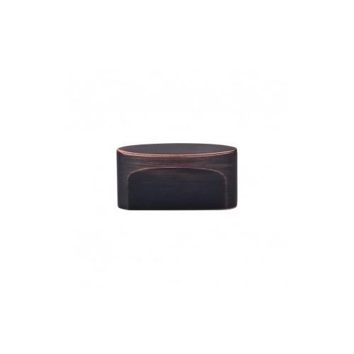 Oval Slot Knob 1 1/2 Inch (c-c) - Tuscan Bronze