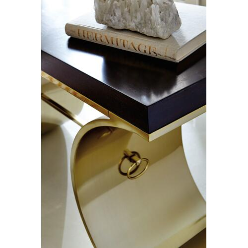 Jet Set Console Table in Caviar (356)
