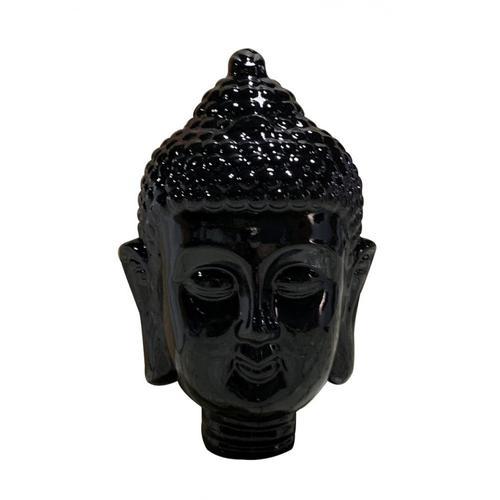 Gallery - Modrest Modern Black Buddha Head Sculpture