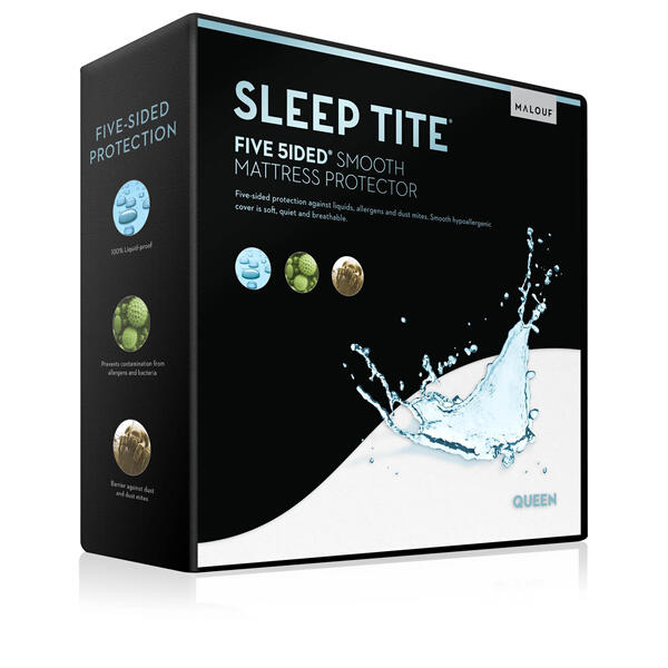 Five 5ided Smooth Mattress Protector Queen