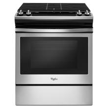 View Product - 5.0 cu. ft. Front Control Gas Range with Cast-Iron Grates Stainless Steel
