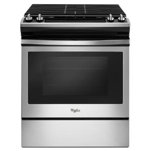 5.0 cu. ft. Front Control Gas Range with Cast-Iron Grates Stainless Steel Product Image