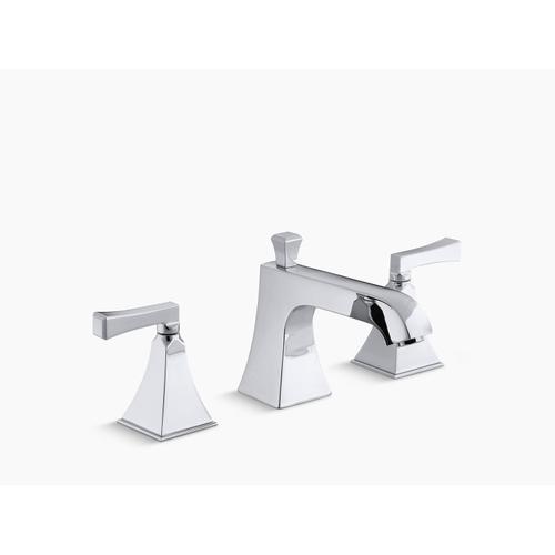 Kohler - Polished Chrome Deck-mount Bath Faucet Trim for High-flow Valve With Diverter Spout and Deco Lever Handles, Valve Not Included