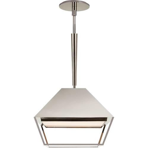 Visual Comfort - Barbara Barry Odeum 2 Light 14 inch Polished Nickel Hanging Lantern Ceiling Light, Small