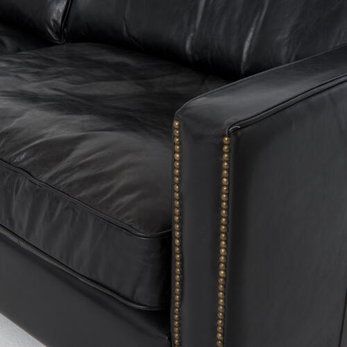 "88"" Size Rider Black Cover Larkin Sofa"