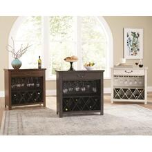 Grey Wine Rack